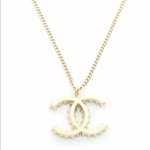 CHANEL 'CC' 14K Gold Necklace